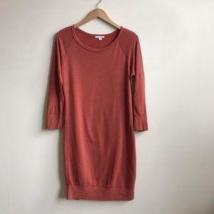James Perse Vintage Fleece Raglan Sleeve Dress